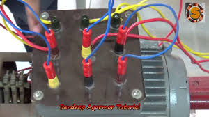 slip ring induction motor connection with starter panel