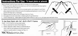 easel instructions