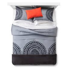 room essentials large medallion comforter set full queen