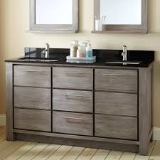 60 Bathroom Cabinet 60 Venica Teak Double Vanity For Rectangular Undermount Sinks