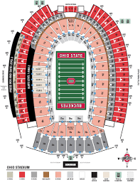 Illinois Seating Chart Football Ohio Stadium Seating Chart And Stadium Layout Section Gate