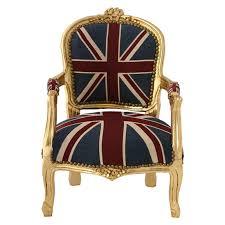 union jack furniture. Children Armchair UK Union Jack Flag Baroque Gold Carved Wood Frame \u2013 Bild 1 Furniture N