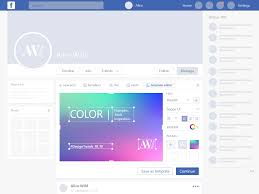 Facebook Interface Design Facebook Post Cover Editor Concept By Ellen Milien On Dribbble