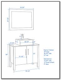 bathroom vanity with vessel sink height