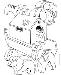 Small Picture Noah Ark coloring page 003
