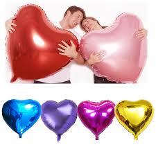 "<b>2pcs</b>/Lot 36"" Giant Love <b>Heart</b> Helium <b>Foil Balloons</b> Birthday Party ..."