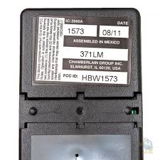 liftmaster 371lm 1 on visor remote liftmaster 371lm back