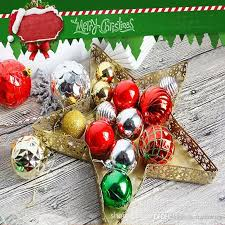 2017 christmas tree xmas star decorations baubles party wedding ornament hanging drops for bar and