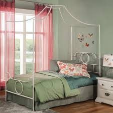 Emsworth Complete Kids Metal Canopy Bed White Full - Fashion Bed ...
