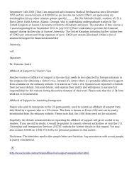 Affidavit Of Support Letter Custom Affidavit Of Support Sample Letter Immigration Creativeletterco