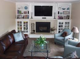 create an accent wall at the end of long narrow family room delectable small rectangular living