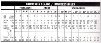 Hockey Shin Pad Sizing Chart Bauer Nexus 1000 Shin Guard Jr