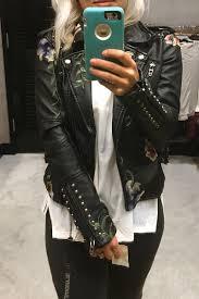 nordstrom anniversary 2017 top black leather jacket madewell destroyed denim plaid longsleeve shirt