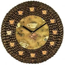 handmade wall clock coffee flavour