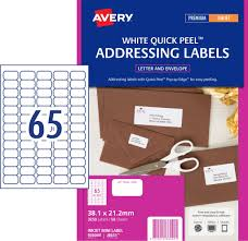 Avery Address Labels With Quick Peel For Inkjet Printers 38 1 X 21 2 Mm 3250 Labels 936049 J8651