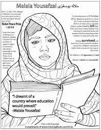 Coloring Books | Malala Yousafzai Free Online Coloring Page