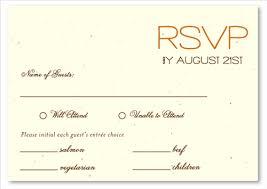 Contemporary Sample Wedding Rsvp Card 5 Type Of R V P