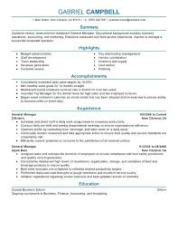 general cv template restaurant resume template food service server resume professional