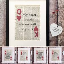 King And Queen Of Hearts Designs King And Queen Of Hearts Love Quote Print 1st Wedding