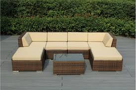 outdoor wicker patio furniture 7 piece