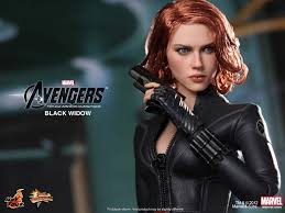 the avengers hot toys black widow collectible action figure