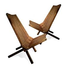 wood lounge chairs. GloDea X36P1BNS2 Lounge Chair, Brown Stain, Set Of 2 Wood Chairs