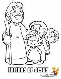 Small Picture Jesus Is My Friend Coloring Page from TwistyNoodlecom Preschool