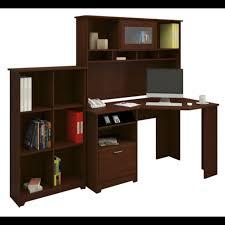 bush cabot collection corner desk package harvest cherry cab006hvc
