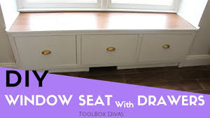 How To Make Drawers How To Make A Window Seat With Drawers Youtube