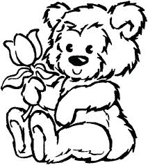Coloring Pages Of Teddy Bears To Print Rose Flower Coloring Pages