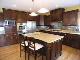 custom cabinets brown color design cream wooden classic kitchen schemes island cabinet plain wall paint dark