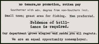 Mla Joblist The Silly And Sobering History Of Mla Job Ads Chroniclevitae