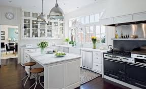 Great Kitchen All White Kitchen Designs And Kitchen Layouts And Design  Improved By The Presence Of A With White Kitchen Designs.
