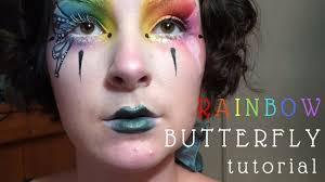 rainbow erfly clown makeup tutorial time lapse