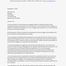 Example Of Executive Cover Letters Sample Cover Letter For A Human Resources Managers Job