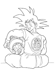 Small Picture Dragon Ball Z Goku And Gohan Dragon Ball Z Coloring Pages