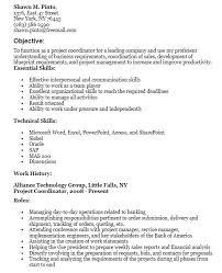 20 Free Project Coordinator Resume Samples Sample Resumes