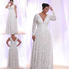 discount cheap full lace plus size wedding dresses with removable