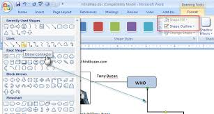 how to build a mind map in microsoft wordms word drawingtools
