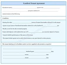 Basic Tenancy Agreement Template Rental Equipment Free Printable ...