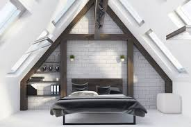 Master Of Interior Design Interesting Attic Bedroom Interior With A Concete Floor A Master Bed With