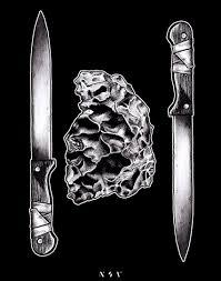 Tattoo Sketch Dotwork Linework Minimal Nosov Nsv Knife Sketches тату