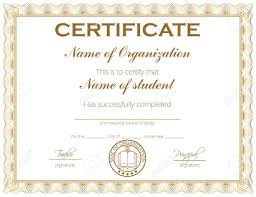 General Purpose Certificate Or Award With Sample Text That Can