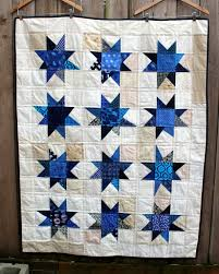 Wonky Stars – wip Wednesday | WOMBAT QUILTS & blue wonky star quilt finsihed Adamdwight.com