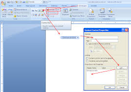 How To Add A Drop Down Box In Word How To Insert Text Fields Check Boxes Drop Down Lists Combobox