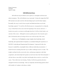 example of personal reflection essay personal reflection essay