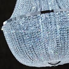 empire swarovski crystal basket chandelier