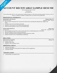 Account Receivable Resume Sample Resume Samples Across All Resume
