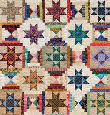 Scrap-quilting secrets for bed quilts - Stitch This! The ... & Detail of Ohio Star and Courthouse Steps quilt Adamdwight.com