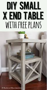 ideas bedside tables pinterest night: makeover monday small x end table free plans
